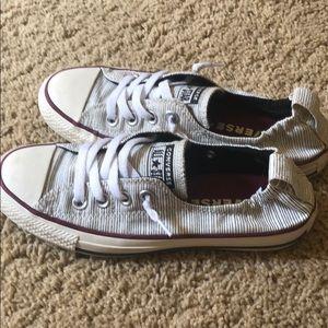 Black cream striped converse All stars size 6